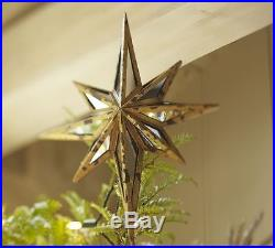 New Pottery Barn Mirrored Star Christmas Tree Topper