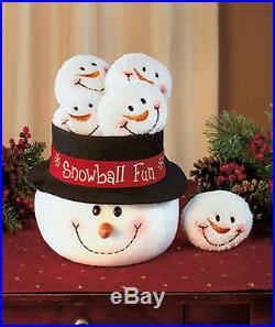 New! SNOWMAN SNOWBALL FUN Holiday Decor Christmas Ornaments