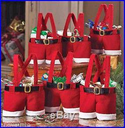 New Santa Pants Handbag Xmas Decor Wedding Candy/Gift Buckram Wine-Bag Christmas