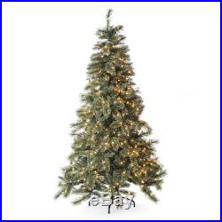 New Sterling Tree Co. 7.5′ Gold Glitter Cashmere Pine Christmas Tree