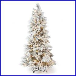 New Sterling Tree Co. Lightly Flocked Snowbell Pine Pre-Lit Full Christmas Tree