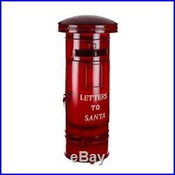 New Traditional Festive Christmas Letters To Santa Metal Post Box Xmas