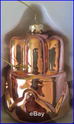 New Williams Sonoma Copper Glass Ornaments Christmas