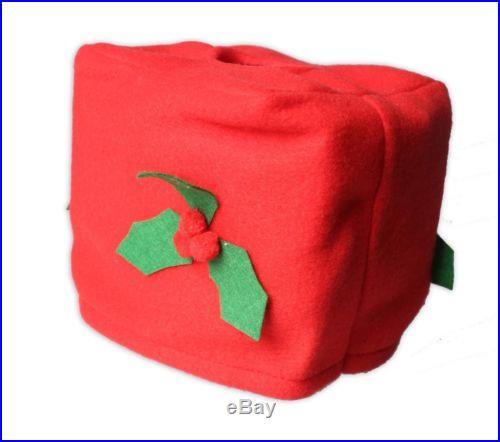 New XMAS Santa Toilet Seat Cover 4 Pcs Set Bathroom Mat