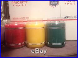 New Yankee Candle BB Collectable set of 3 / 22oz Christmas candles
