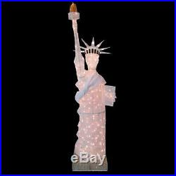 New christmas Holiday 7 ft. 200-Light Mesh Statue of Liberty outdoor yard decor
