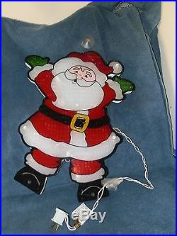 New in box Lighted Santa Christmas Window indoor / outdoor Decoration