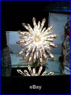 New Nativity Christmas Giant Prelit Crystal Tree Topper