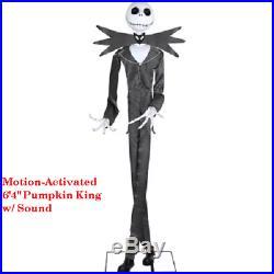 Nightmare Before Christmas Animated Jack Skellington Halloween with Sound 6'x4H