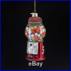 Noble Gems Gumball Machine Glass Christmas Ornament Tree Decoration NB0549 New