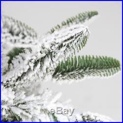 Northlight 6.5′ Flocked Noble Fir Artificial Christmas Tree Unlit (32275051)
