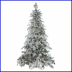 Northlight 6.5 ft. Prelit Flocked Artificial Whistler Noble Fir Christmas Tree