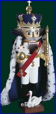Nussknacker Nußknacker Nutcracker König mit Umhang Erzgebirge Weihnachten 12814