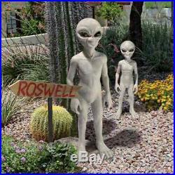 OUTDOOR X TERRESTRIAL SPACE ALIEN STATUE Roswell Creepy Halloween Yard SCULPTURE