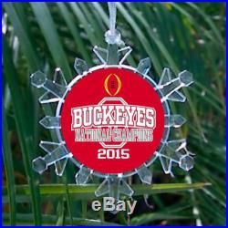 Ohio State Buckeyes 2015 Football Champs Holiday Christmas Tree Ornament
