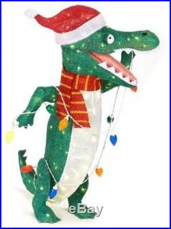 Outdoor Christmas Alligator Decoration Lighted Outdoor