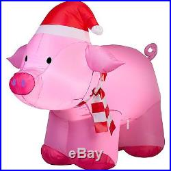 Outdoor Christmas Decoration Airblown Inflatable Pig Pink 3′ Yard Xmas Decor NEW