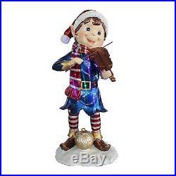 Outdoor Christmas Decoration Holiday Fairy Elf Violin LED Lights Yard Decor