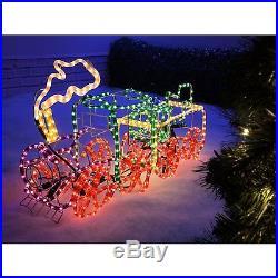 Outdoor Christmas Decoration Lights LED Santa Train Rope lights cool Xmas Gift
