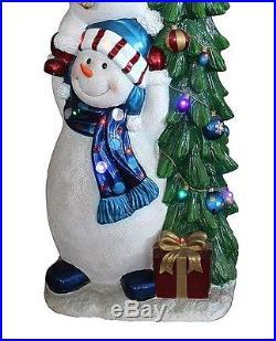 Outdoor Christmas Decoration Snowman Tree LED Lights Yard Decor Holiday Season