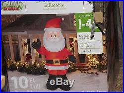 Outdoor Christmas Decorations 10 Foot blowup christmas Santa Inflatable