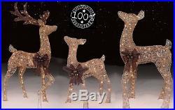 Outdoor Christmas Decorations 3-4 Pc Deer Bundle PreLit Buck Xmas Fawn Decor Fam