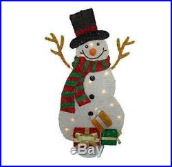 Outdoor Christmas Decorations Santa Claus Snowman White Indoor 31 LED Lights
