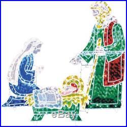 Outdoor Christmas Decorations Xmas Nativity Scene Decor Mary Joseph Jesus Manger