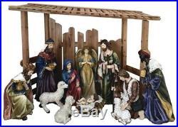 Outdoor Christmas Nativity Scene 12 4.7 ft Pc Set Holiday Yard Decoration Decor