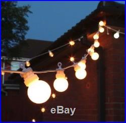 Outdoor Festoon Lights Light Daisy Chain Set 24V String LED Bulbs Garden Indoor