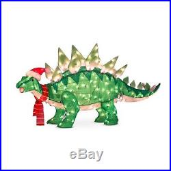 Outdoor Lighted Animated Jurassic Stegosaurus Dinosaur Christmas Yard Decor
