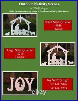 Outdoor Nativity Scene