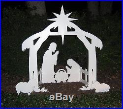 Outdoor Nativity Scene Holy Family Set Christmas Display Holiday Yard Decor