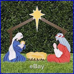 Outdoor Nativity Scene Holy Family Yard Set Large 3 Pc Christmas Decoration