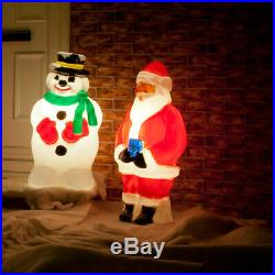 Outdoor Santa Snowman LED Blow Mould Christmas Figure Character Decoration