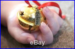 PERSONALISED Polar Express Bell I Believe Christmas Decoration Gold Jingle