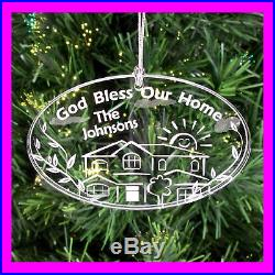 PERSONALIZED CUSTOM CHRISTMAS ORNAMENT BLESS OUR HOME