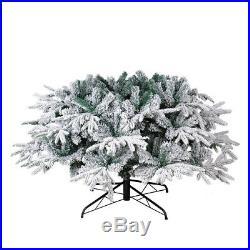 PE&PVC 1400 Tips 8FT Artificial Christmas Trees Flocked Snow White Tree