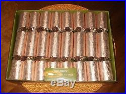 PIER 1 IMPORTS Gold Holiday Dinner PARTY CRACKERS Set of 8 New in Box