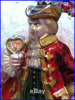 POLONAISE POLISH BLOWN GLASS LORDS A LEAPING CHRISTMAS ORNAMENT KURT S ADLER