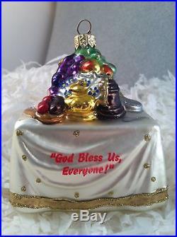 POLONAISE POLISH BLOWN GLASS TURKEY DINNER TABLE A CHRISTMAS CAROL ORNAMENT