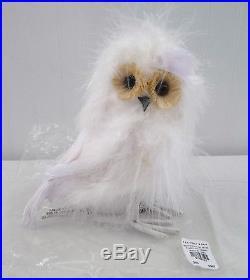 POTTERY BARN Fluffy Owl Christmas Tree Ornament Decor, NEW HTF 4 AVAILABLE