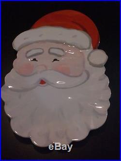 POTTERY BARN KIDS SANTA CLAUS MELAMINE PLATTER CHRISTMAS NEW FREE SHIPPING
