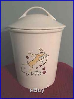 POTTERY BARN Reindeer CUPID Cookie Jar RETIRED HTF