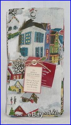 POTTERY BARN Winter Village Christmas Napkins, SET OF 4, NEW 3 SETS AVAILABLE