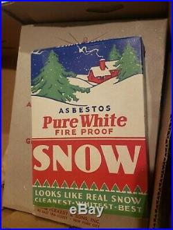 PURE WHITE Christmas SNOW Fireproof ASBESTOS National Tinsel Mfg RARE