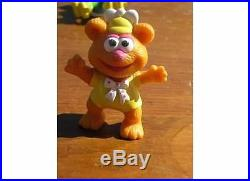 PVC Jim Henson Muppet Babies Baby Gonzo Kermit Fozzy 1986 Lot Ornament Cake Top