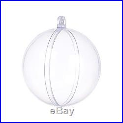 Pack Of 12 Seekingtag Clear Diy Fillable Plastic Ball Craft Ornaments 50 Mm Heav