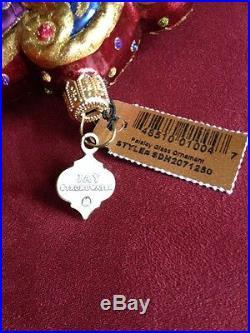 Paisley Jay Strongwater Glass Ornament with Swarovski Crystals NIB
