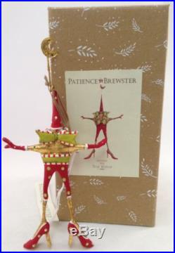 Patience Brewster Krinkles Mini Ornament STAR WOMAN Handmade Holiday Decoration